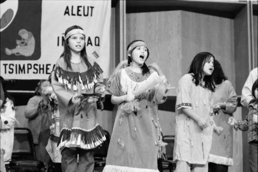 Alaska Native Arts Festival at the University of Alaska Fairbanks.  (John D. Lyle Papers, UAF-1992-11-138)
