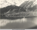 Aerial view of Seward, Alaska.