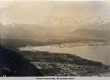 Overhead view of Seward & Resurrection Bay, ca. 1906.