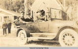 President Warren Harding on auto tour.