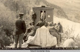 Gilmore addressing railroad men. June 11th, Alaska Nor[thern] R[ailwa]y. Seward, Alaska.
