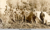 Group of men camping, ca. 1905-1910.