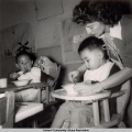 Mealtime at the Jesse Lee Home, ca. 1946-1955.
