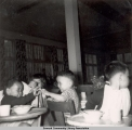 Dining at the Jesse Lee Home, ca. 1946-1955.