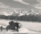 Plowing snow, ca. 1946-1955.