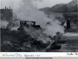 Cleanup after the 1941 fire, Seward, Alaska.