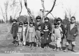 Group of native orphans at the Kanakanak government orphanage.