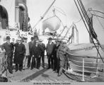 "Party on board S. S. ""President"" en route to Nome, Alaska.  June 11th 1907."