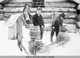 Generating plant at our Ptarmigan Creek cabin, Feb. '31.