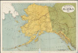 Rand-McNally official 24 X 36 map of Alaska.