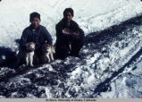 Eskimo boys in White Mountain, Alaska.