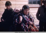 Native Alaskan woman and children.