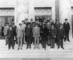 Alaska Territorial Legislature in front of the Capitol Building