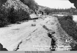 Blockade caused by earthquake, July 22, 1937, Richardson Highway.