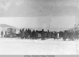 Wilkins north pole fly over supply convoy