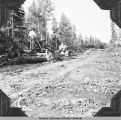 Grading on road from [text missing] Springs Landing to the new Landing, Rte [30?], Fairbanks...