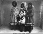 Three unidentified native women