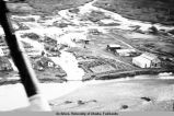 Airview of Wiseman under water, Aug. - Sept. 1938.