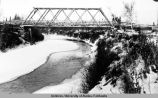 Old Salatna bridge before replacing, Oct. 1936.