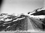 5/29/49. Snow drift, Mile 107 1/2, Rte 16, Fbx Dist.
