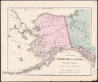 Map of the Territory of Alaska : (Russian America) ceded by Russia to the United States.