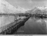 Valdez, Alaska as seen from the bay.