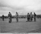 Award ceremony on a flightline