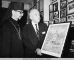 Senator Gruening with the Right Reverend Theodosius