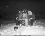 Military and guard cache supplies in the frozen tundra