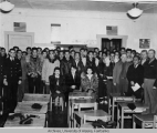 Group photograph taken in a classroom