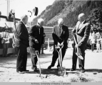 Ground breaking, U. S. Post office