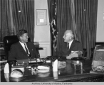 Senator Gruening speaks with President Kennedy