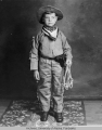 Bob Bartlett dressed as a cowboy at about age six