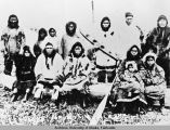 Group of Native Alaskans believed to be Yupik Eskimos.