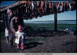 Native Alaskans at fish camp.
