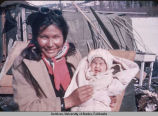 Native Alaskan woman and infant girl.