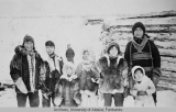 Group photograph in Arctic Village