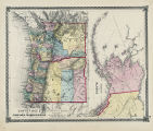 Territory of Alaska; county map of Oregon, Washington.