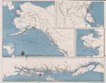 Alaska steamship Co's black ball line map of Alaska.