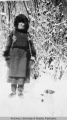 Unidentified person in winter scene
