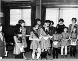 Girl Scouts at Ft. Wainwright, 1950s.
