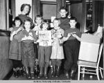 Six members of Brownie Troop 102, December 19, 1956.