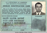 Ralph Walter Savory's Airman Identification Card, 1951.