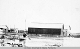Back yard of the Fort Yukon hospital during a flood