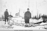 First mail leaving Fort Yukon, 1923