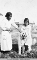 Mary & Gertie Burman with Wooly