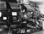 Typesetting machines.