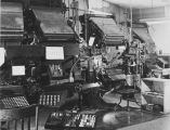 Typesetting equipment.