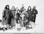 Unidentified group of people from Fort Yukon