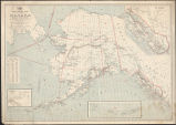 Post route map of the territory of Alaska : showing post offices, with the intermediate distances,...